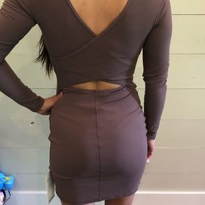 Contour dress lululemon antique bark low back nulu